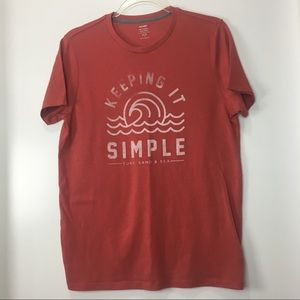 Vintage Old Navy 'Keeping It Simple' T-Shirt Small